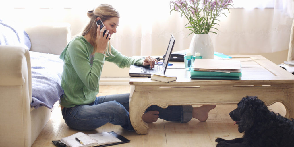5 great advantages from work from home